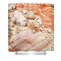 Shower Curtain featuring the photograph Multicolored Sandstone In Valley Of Fire by Ray Mathis