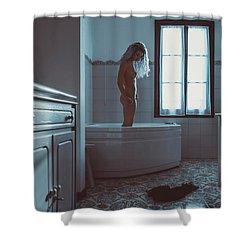 Tu M'as Promis Shower Curtain by Traven Milovich