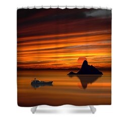 3971 Shower Curtain by Peter Holme III