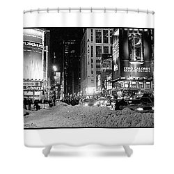 39th Ave Winter Shower Curtain