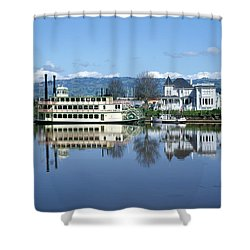 3b6380 Petaluma Queen Riverboat Shower Curtain