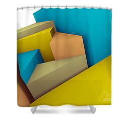 3d Abstraction  Shower Curtain