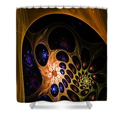 3d Chaotica Shower Curtain