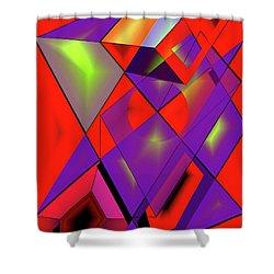 3d-cubes Shower Curtain by Helmut Rottler