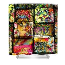 3d Cubist Shower Curtain