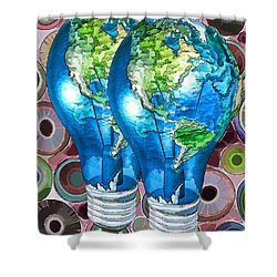3d Render Of Planet Earth 15 Shower Curtain by Lanjee Chee