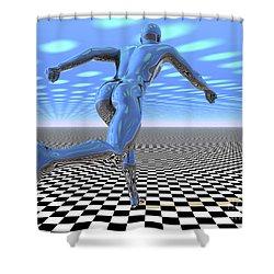 3d Runner Shower Curtain