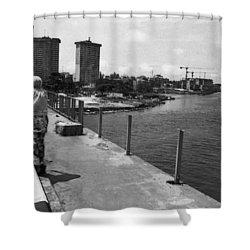Falomo Bridge Across The Lagoon Shower Curtain