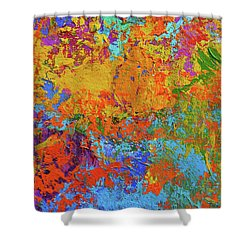 Abstract Painting Modern Art Contemporary Design Shower Curtain