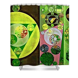 Shower Curtain featuring the digital art Abstract Painting - Myrtle by Vitaliy Gladkiy