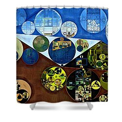 Shower Curtain featuring the digital art Abstract Painting - Wood Bark by Vitaliy Gladkiy