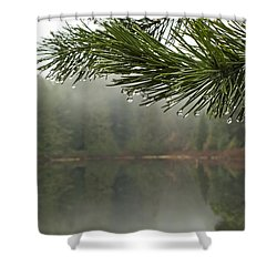 After The Rain Shower Curtain by Inge Riis McDonald