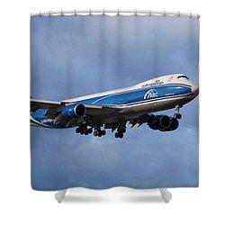 Air Bridge Cargo Airlines Boeing 747-8hv Shower Curtain