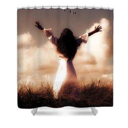 Angel Shower Curtain by Joana Kruse