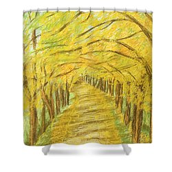 Autumn Landscape, Painting Shower Curtain by Irina Afonskaya