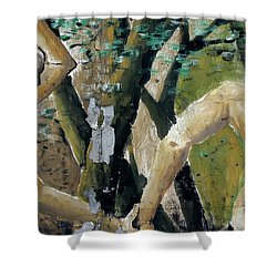 Berlin Wall Mural Shower Curtain