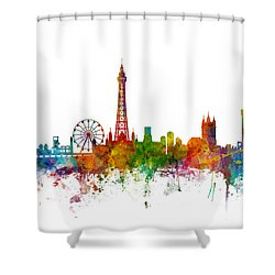 Blackpool England Skyline Shower Curtain