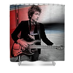 Bob Dylan Shower Curtain by Marvin Blaine
