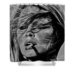 Brigitte Bardot Shower Curtain