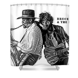 Bruce Springsteen Clarence Clemons Collection  Shower Curtain by Marvin Blaine