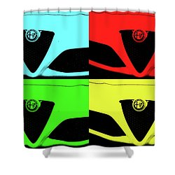 4 C Pop Shower Curtain