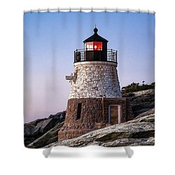 Castle Hill Lighthouse Shower Curtain by John Greim