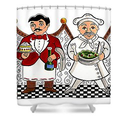 4 Chefs Shower Curtain by John Keaton
