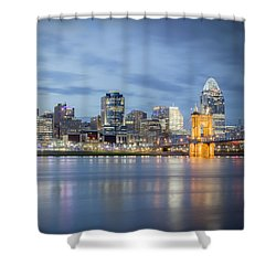 Cincinnati, Ohio Shower Curtain by Scott Meyer