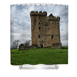 Shower Curtain featuring the photograph Clackmannan Tower by Jeremy Lavender Photography