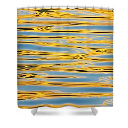 Shower Curtain featuring the photograph Color Lights On Water Reflection by Odon Czintos