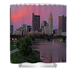 D2l37 Columbus Ohio Skyline Photo Shower Curtain