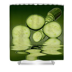 Cool As A Cucumber Slices Shower Curtain