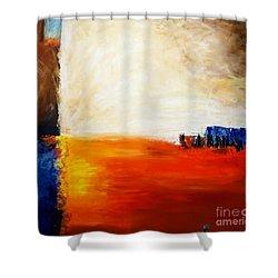 4 Corners Landscape Shower Curtain