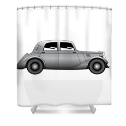 Shower Curtain featuring the digital art Coupe - Vintage Model Of Car by Michal Boubin