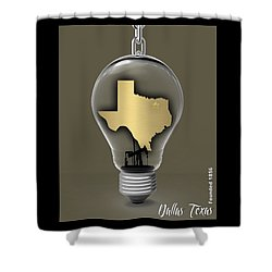 Dallas Texas Map Collection Shower Curtain