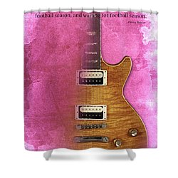 Darius Rucker Inspirational Quote, Electric Guitar Poster For Music Lovers And Musicians Shower Curtain by Pablo Franchi