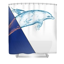 Dolphin Collection Shower Curtain by Marvin Blaine