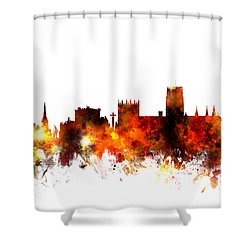 Durham England Skyline Cityscape Shower Curtain