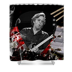 Eric Clapton Art Shower Curtain