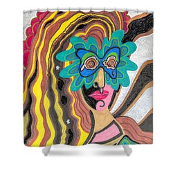 4 Faces Of Laurel - I Shower Curtain