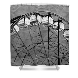 Shower Curtain featuring the photograph Ferris Wheel Impressions by Werner Lehmann