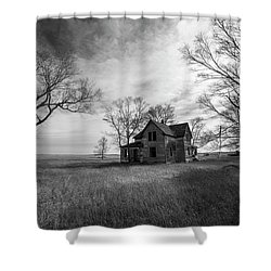 Shower Curtain featuring the photograph Forgotten  by Aaron J Groen