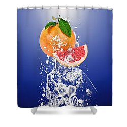 Grapefruit Splash Shower Curtain