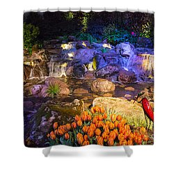 Imaginative Landscape Design Shower Curtain