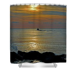 Shower Curtain featuring the photograph 4- Into The Day by Joseph Keane