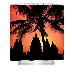 Java, Prambanan Shower Curtain by Gloria & Richard Maschmeyer - Printscapes