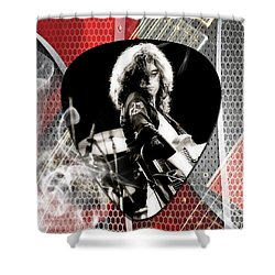 Jimmy Page Art Shower Curtain by Marvin Blaine