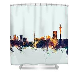 Johannesburg South Africa Skyline Shower Curtain