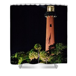Jupiter Lighthouse Shower Curtain