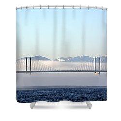 Kessock Bridge, Inverness Shower Curtain